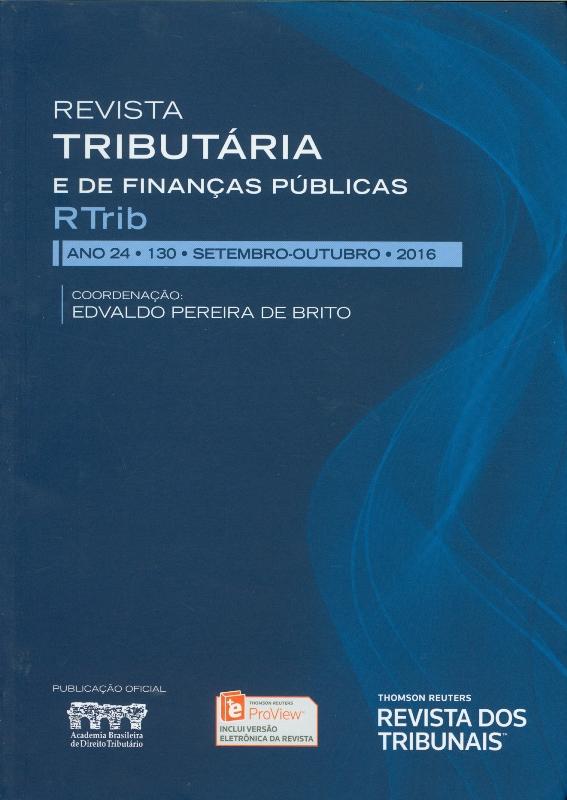 Revista Tributária e de Finaças Públicas - 130 - Capa